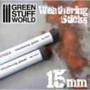 GSW Weathering Sticks Foam Sponge Brushes 15mm