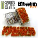 GSW Blossom Tufts 6mm Self Adhesive Red Flowers