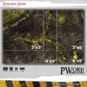 PWork Wargames Wargames Terrain Mat Lifeless Land 5