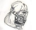 Anvil Industry Woman Head With Respirator
