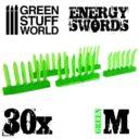 Green Stuff World GREEN Energy Swords Size M 1