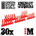 Green Stuff World RED Energy Swords Size M 1