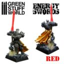 Green Stuff World RED Energy Swords Size M 2