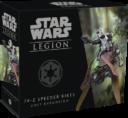 FFG Fantasy Flight Games Star Wars Legion 74 Z Speeder Bikes Expansion 1