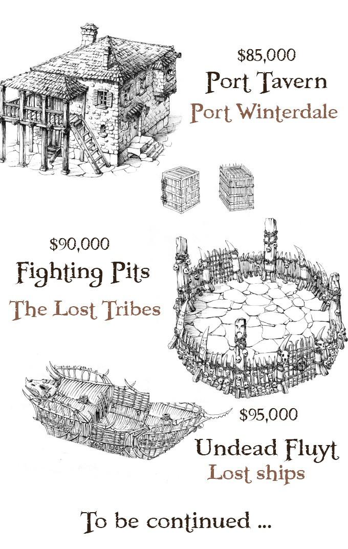 The Lost Islands: 3D-Druck Terrain Kickstarter – Brückenkopf