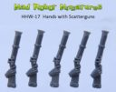 Mad Robot Miniatures Hands With Scatterguns