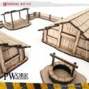PWORK Wargames Medieval 01 Mdf Terrain Scenery 1