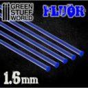 GSW Acrylic Rods Round 16 Mm Fluor Blue