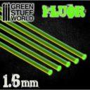 GSW Acrylic Rods Round 16 Mm Fluor Green