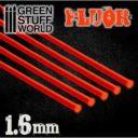 GSW Acrylic Rods Round 16 Mm Fluor Red Orange
