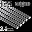 GSW Acrylic Rods Round 24 Mm Clear