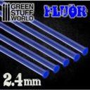 GSW Acrylic Rods Round 24 Mm Fluor Blue