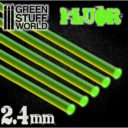 GSW Acrylic Rods Round 24 Mm Fluor Green