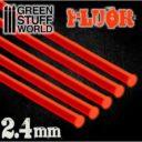 GSW Acrylic Rods Round 24 Mm Fluor Red Orange