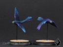 Luft Windvögel Mit Label
