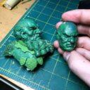 Scibor Monstrous Miniatures Dwarf Bust Green 2