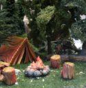 ZT Ziterdes Feuerstelle Mit Zelt 1