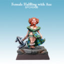 SC SPellcrow Female Halfling With Axe