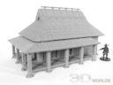 3DAlienWorlds Samurai Bauernhäuser7
