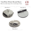 TW Titan Wars Resin Bases 10