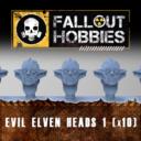 Fallout Hobbies Evil Elven Heads 1 (x10) 1