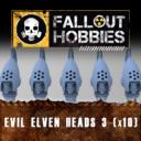 Fallout Hobbies Evil Elven Heads 3 (x10) 1