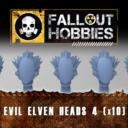 Fallout Hobbies Evil Elven Heads 4 (x10) 1