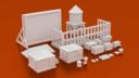 Corvus Games Terrain Urban Greebles Bundle Digital STL