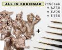 Squidmar Kolinsky Miniature Paintbrush 12