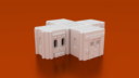 CorvusGamesTerrain3Dprintable15mmscifioutpostcompoundbuildingType6 X1400