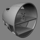 Bombshell Miniatures Scout Ship WIP4