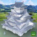 3D Alien World Japanese Castle Final 3D Model