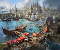 Mantic KoW Armada Basileans Harbour