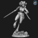 Bombshell Miniatures  Khai The Huntress 4
