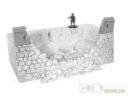 3DAlienWorlds Samurai Ruined Castle Wall 3