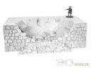 3DAlienWorlds Samurai Ruined Castle Wall 4