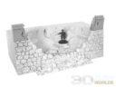 3DAlienWorlds Samurai Ruined Castle Wall 5