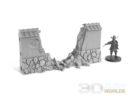 3DAlienWorlds Samurai Ruined Stone Wall 2
