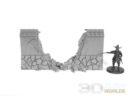 3DAlienWorlds Samurai Ruined Stone Wall 3