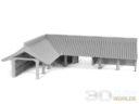 3DAlienWorlds Samurai Temple Walls 9