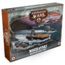 Warcradle Studios Dystopian Wars Mozhayski Battlefleet Set 1