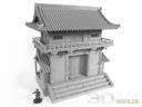 3DAlienWorlds Samurai Temple Outer Gate 7