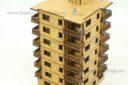 Lasercut Buildings Multi Family Block Scale 15:1 100, 20mm : 1 72 76, 28mm : 1 56 Unpainted Version 1