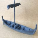 TabletopArt Viking Merchant Ship And Rowboat 1