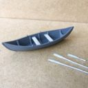 TabletopArt Viking Merchant Ship And Rowboat 5